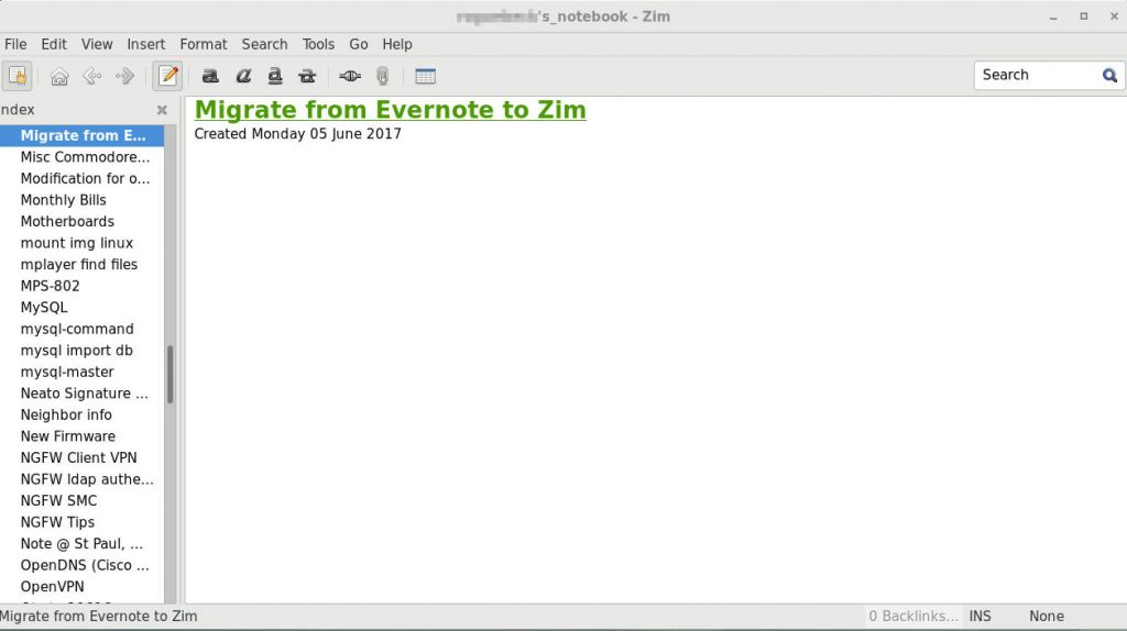 Migrate Notes From Evernote To Zim
