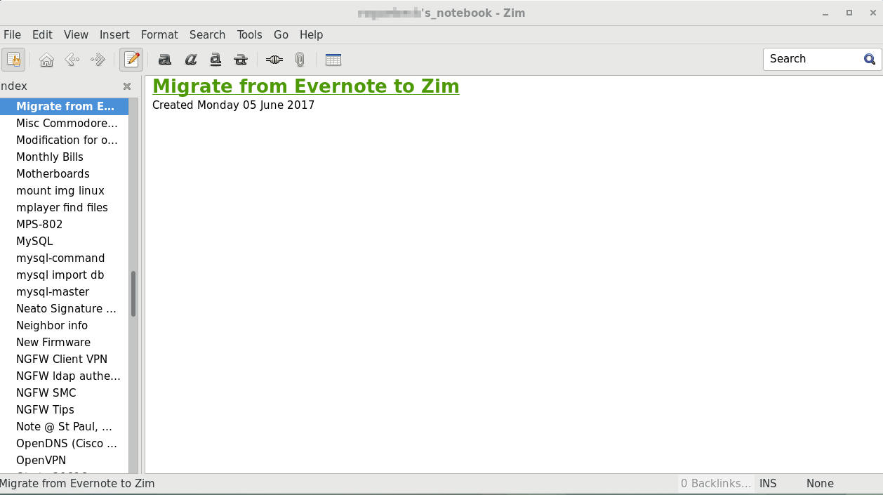 Migrate Notes from Evernote to Zim - Unix Samurai